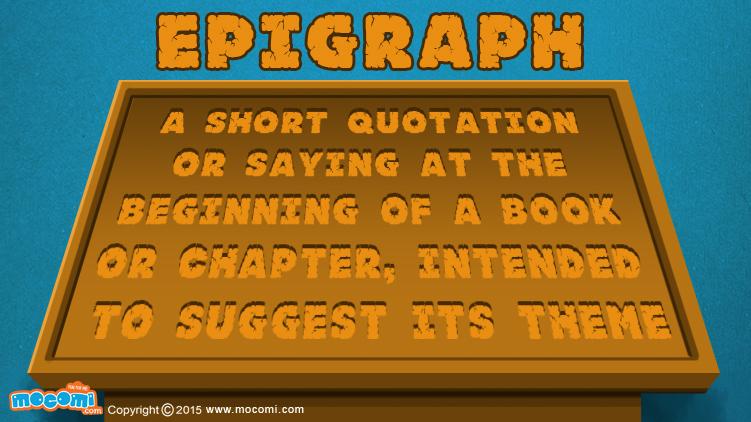 Epigraph