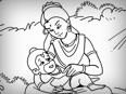 Baby Hanuman With Mother