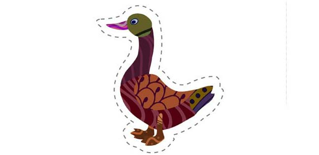 Goose (Cut-out for Kids)