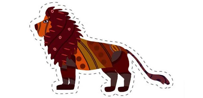 Lion (Cut-out for Kids)