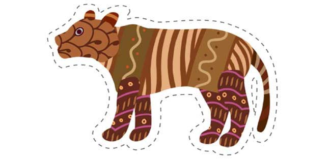 Tiger 2 (Cut-out for Kids)