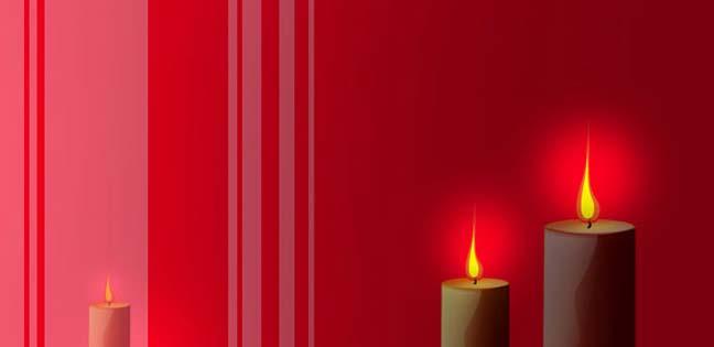 Candle light (Printable Card for Kids)