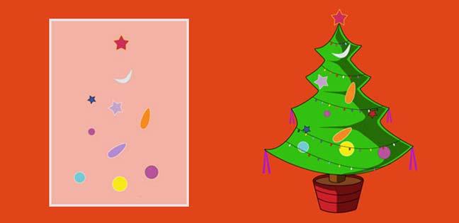 Merry Christmas – Tree (Printable Card for Kids)