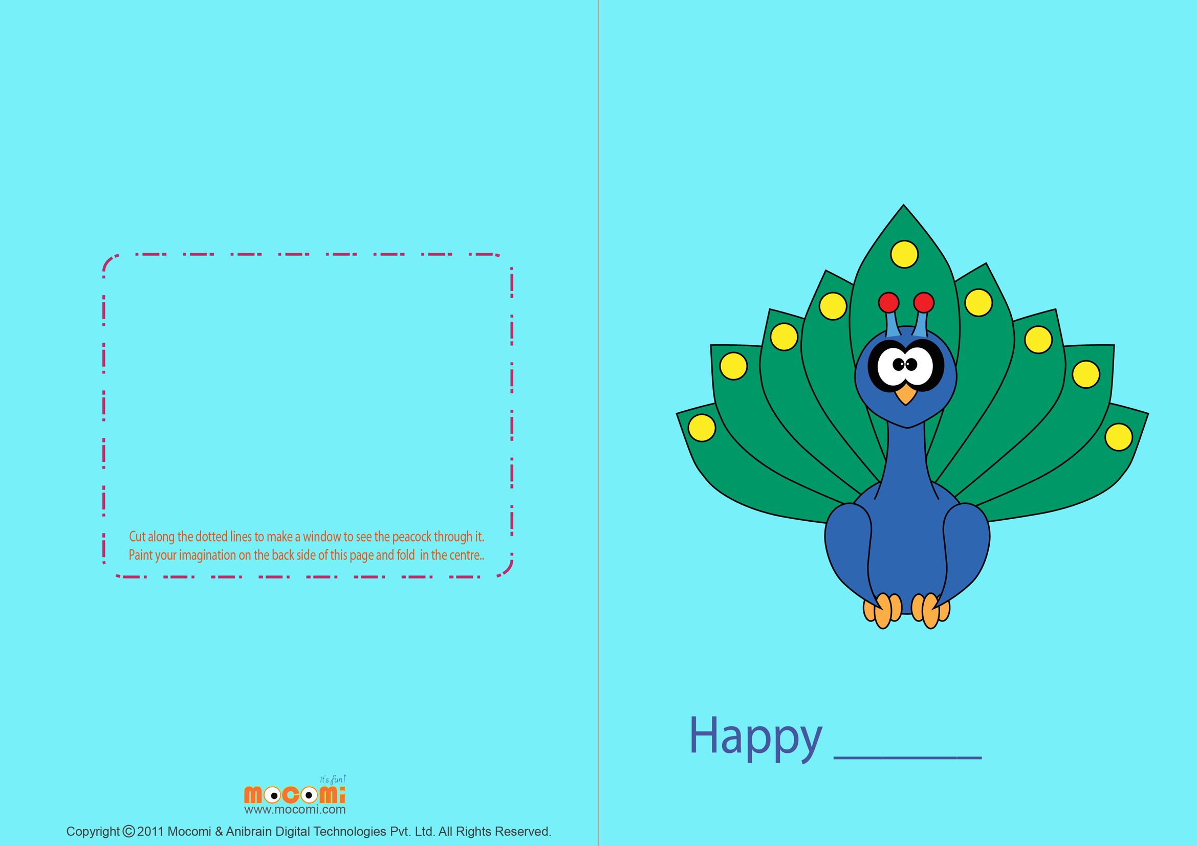 Write your own card (Printable Card for Kids)