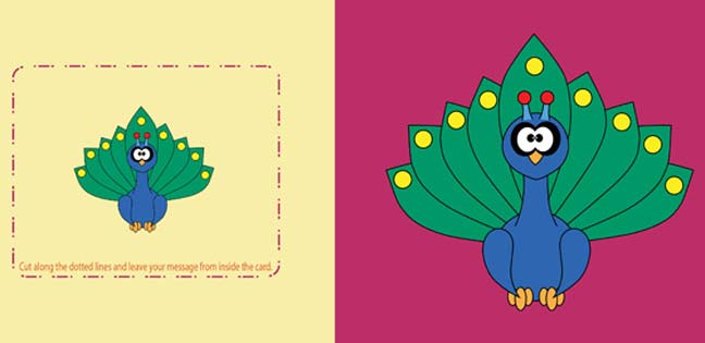 Peacock (Printable Card for Kids)