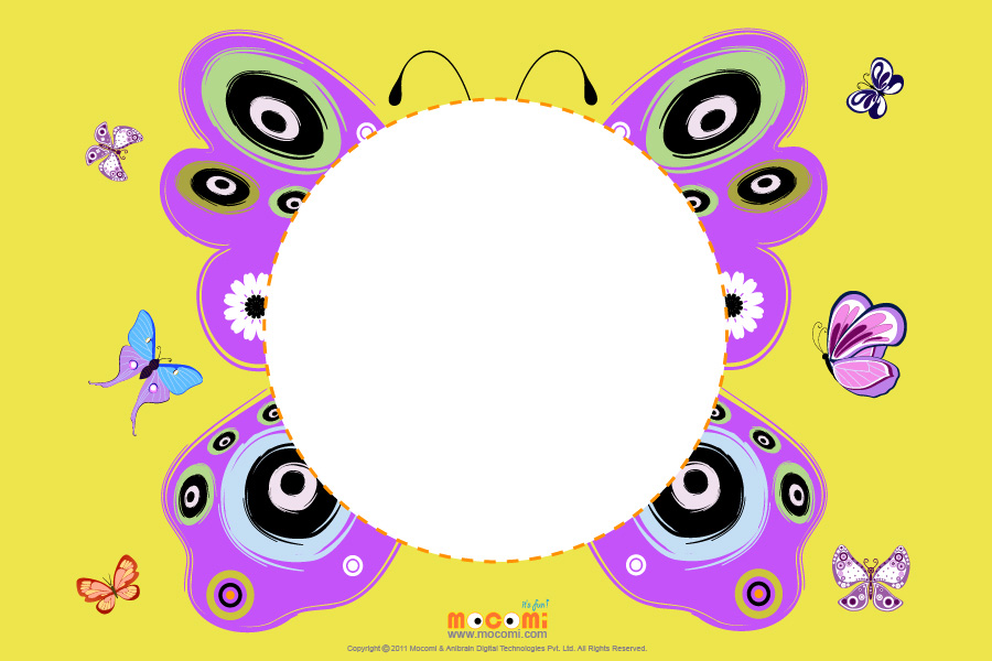 Butterfly art - Printable Photo Frames for Kids | Mocomi