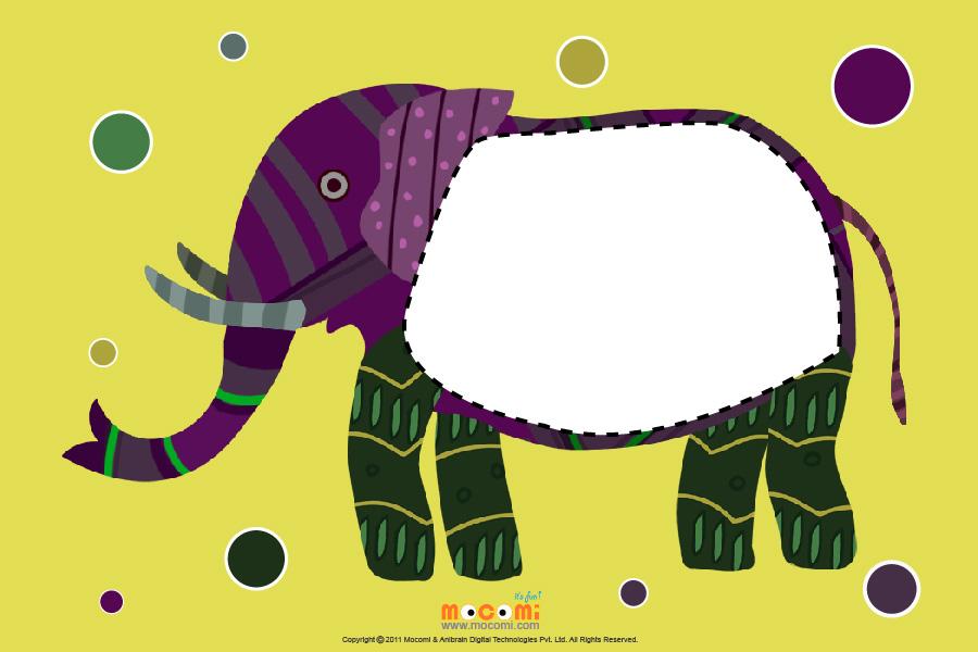 Gond Elephant (Photo Frame for Kids)