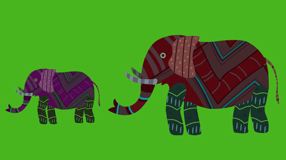 Gond Elephant and Calf