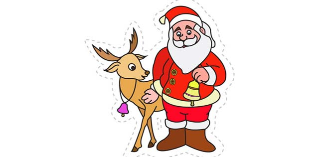Santa's Reindeer (Cut-out for Kids)