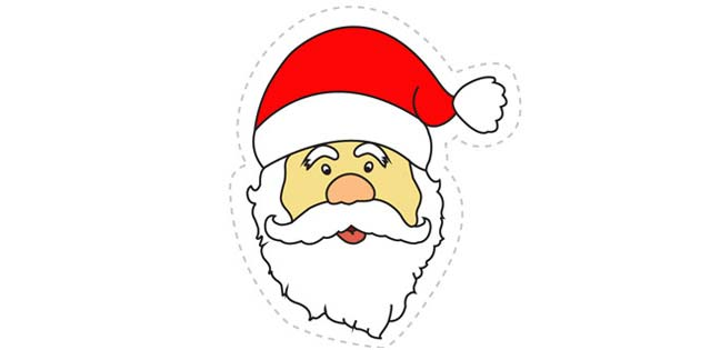 Santa Sticker (Cut-out for Kids)