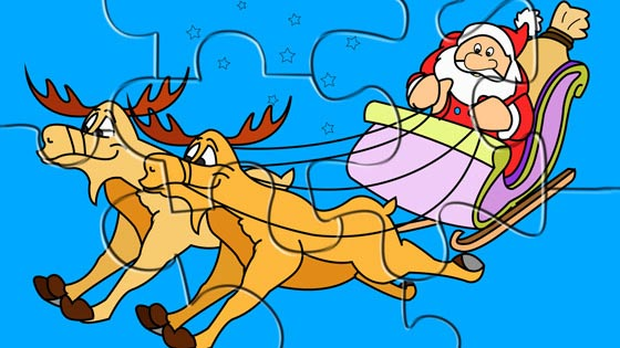 Santa on his Sledge