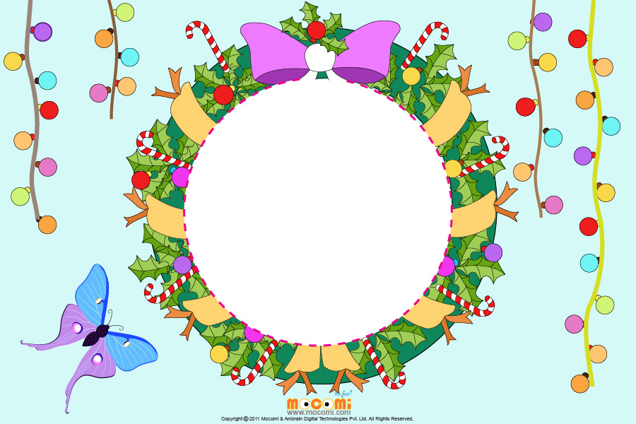 Holly Leaves (Photo Frame for Kids)