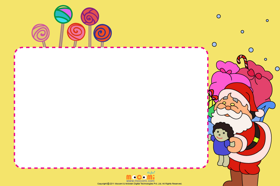 Christmas Candies (Photo Frame for Kids)