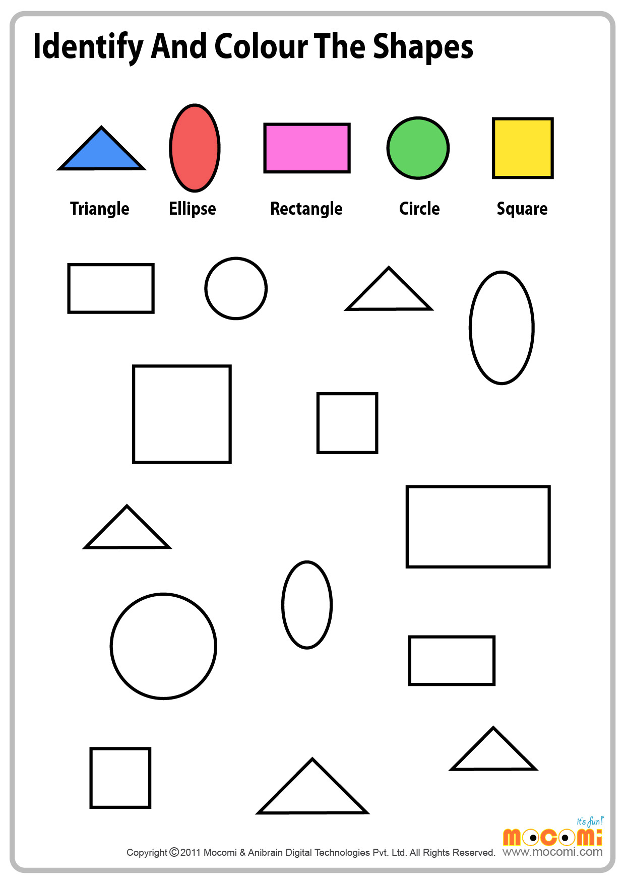 Colour Similar Shapes – 2