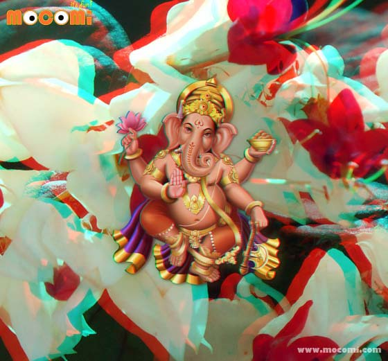 Lord Ganesha - 3D Images For Kids
