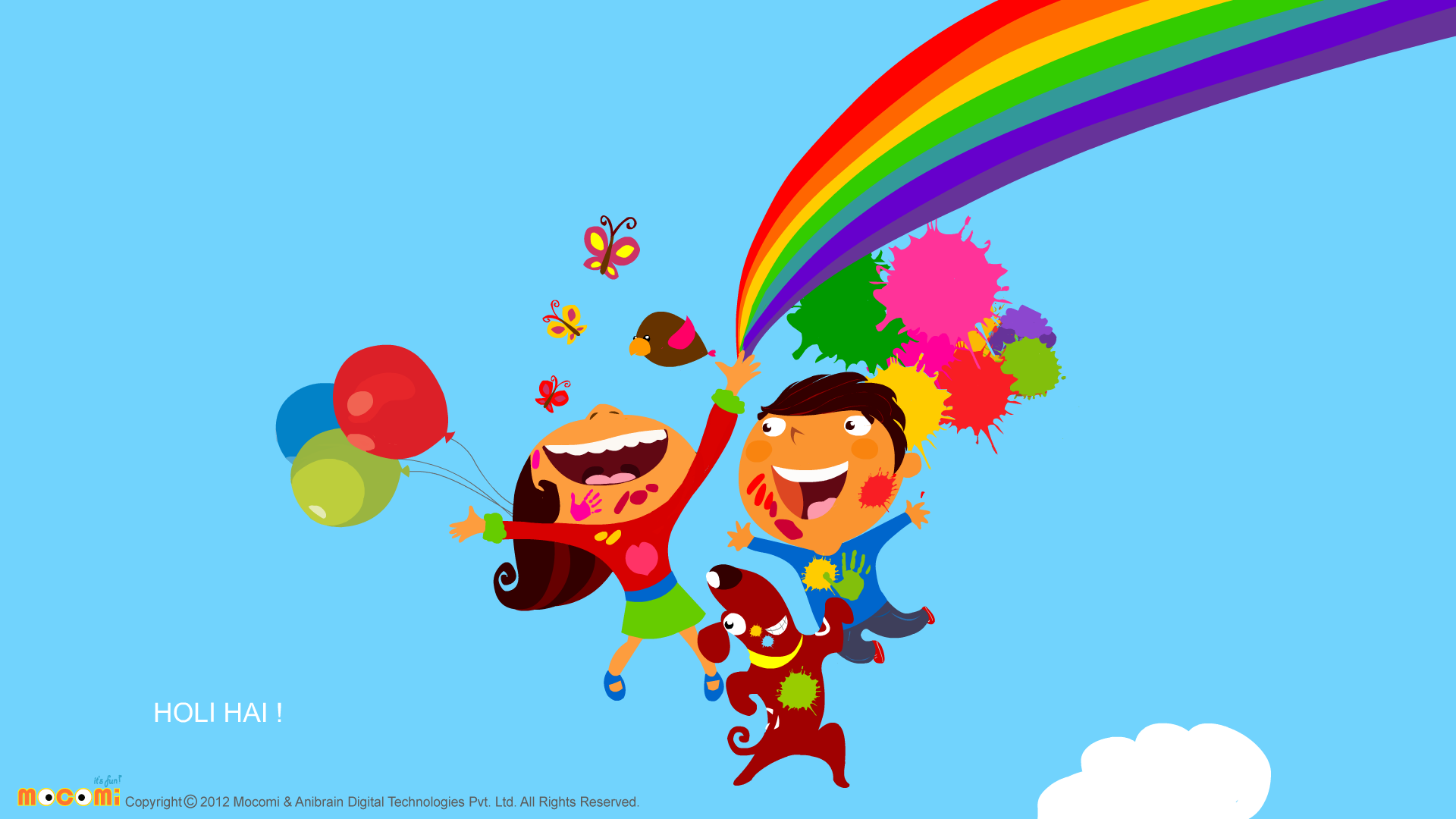 Holi Fun - Desktop Wallpapers For Kids