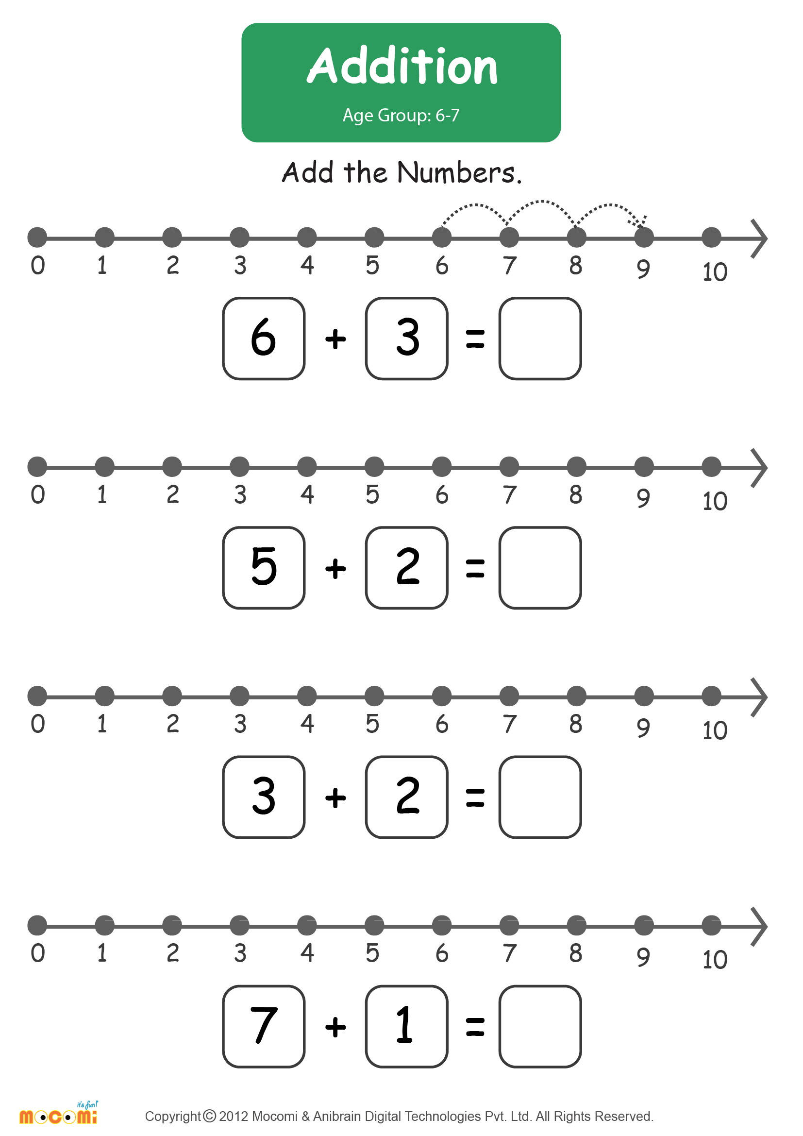 Addition Worksheet - Math for Kids | Mocomi