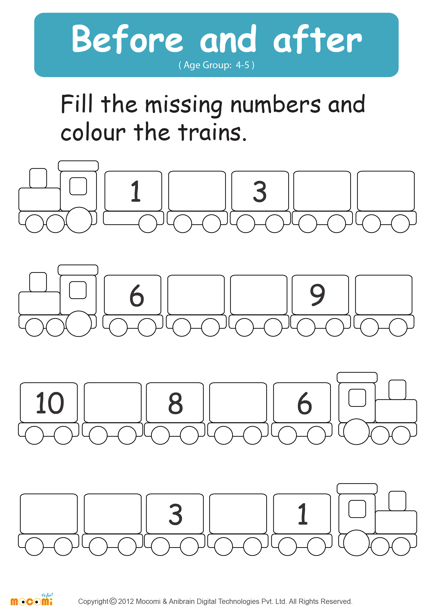 Number es Before And After Worksheets together with Before And After ...