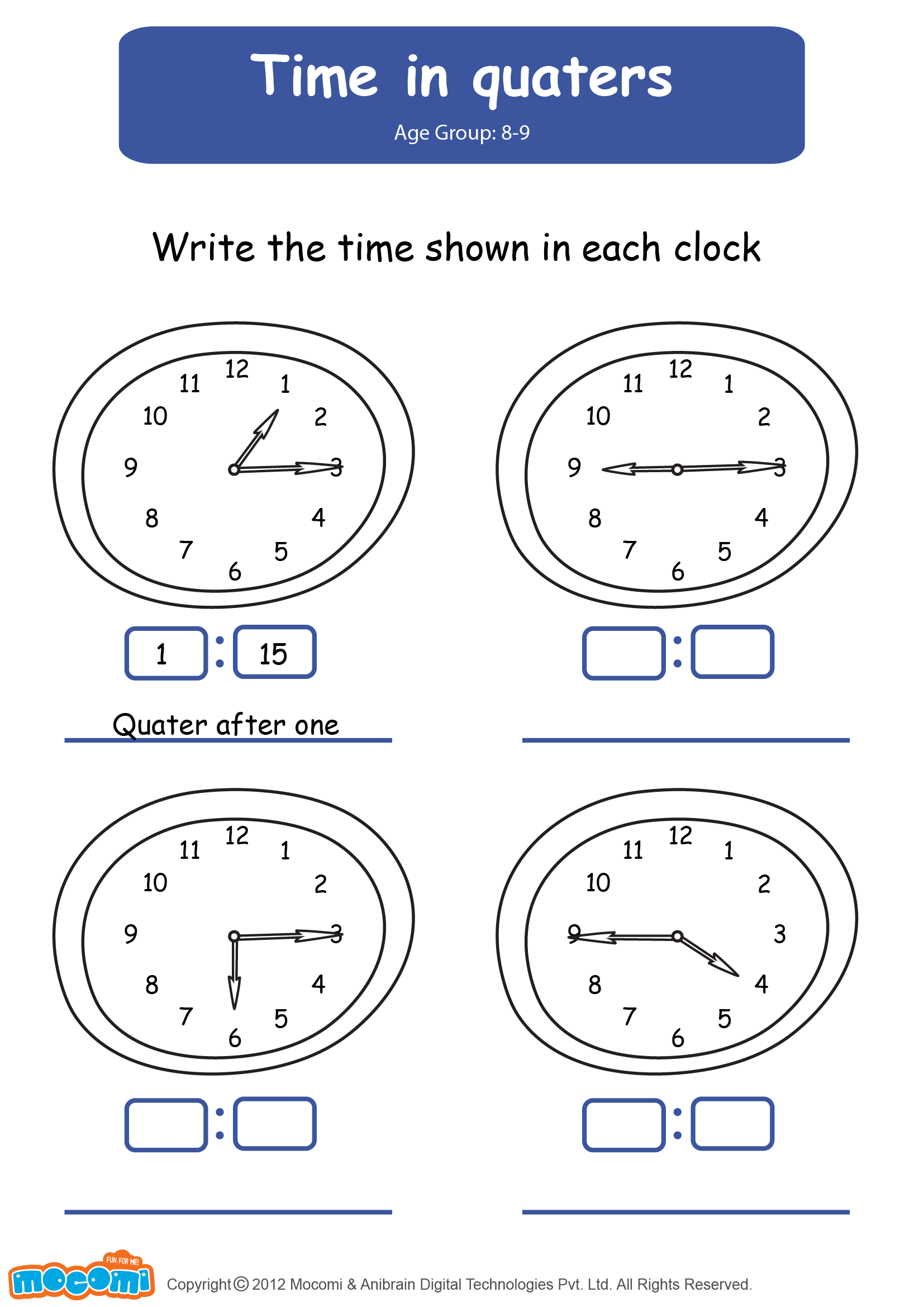Time In Quarters