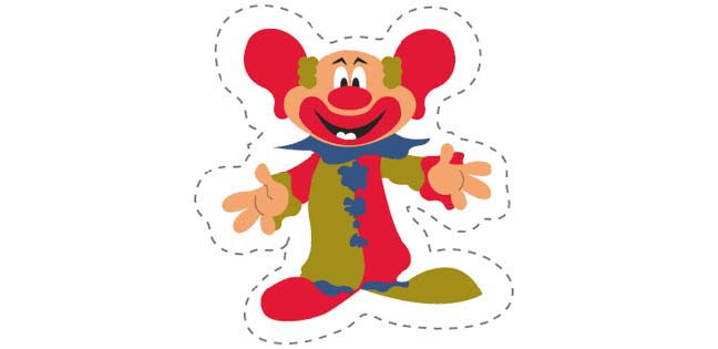 Clown 1 (Cut-out for Kids)