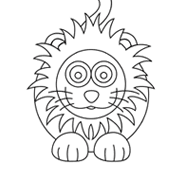 Circus lion – Colouring Page