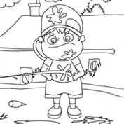 Holi Games – Colouring Page
