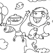 Holi - Colouring Page