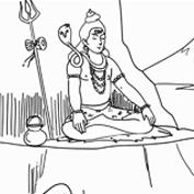 Shiva and serpent