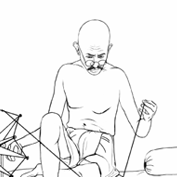 Mahatma Gandhi and his Charkha