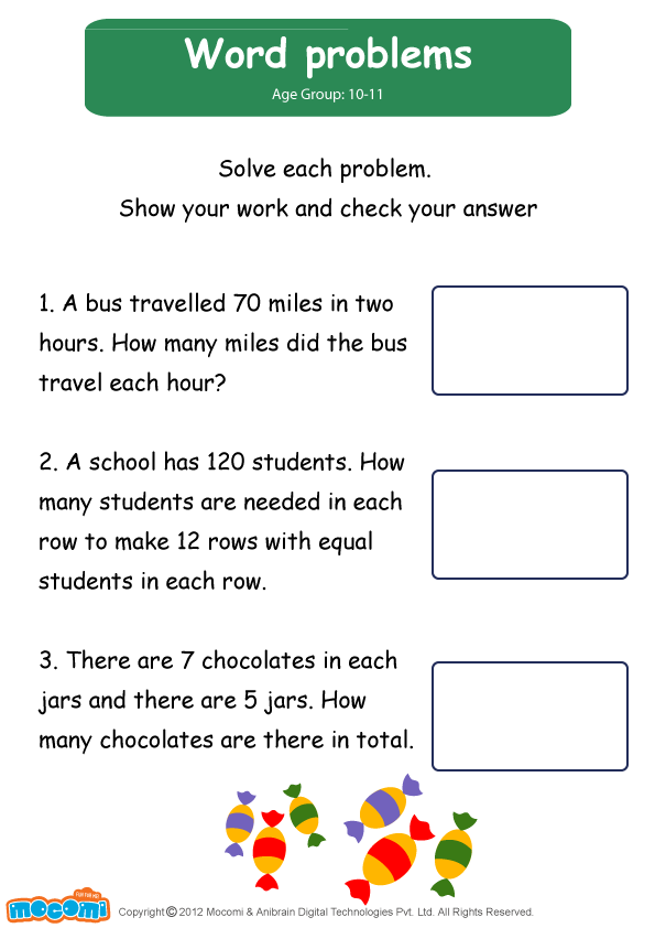 Word Problems Worksheet - Mocomi for Kids | Mocomi