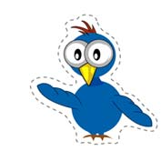 Freaked Bird (Cut-out for Kids)