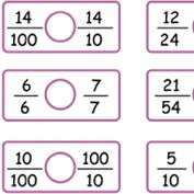 Comparing Fractions Worksheet