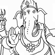 Lord Ganesh – Colouring Page