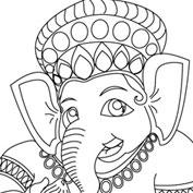 Ganesh – 03 – Colouring Page