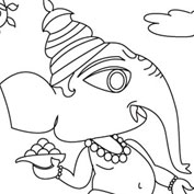 Ganesh – 04 – Colouring Page