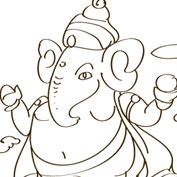 Lord Ganesha - 2 - Colouring Page