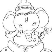 Ganesh – 02 – Colouring Page