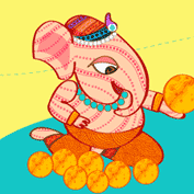 Happy Ganesh Chaturthi! 01 (Printable Card for Kids)