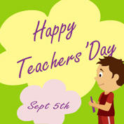 Happy Teachers' Day! - 03 (Printable Card for Kids)