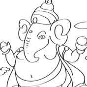 Ganesh – 01 – Colouring Page