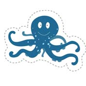 Octopus (Cut-out for Kids)