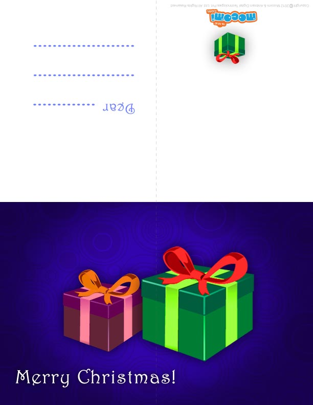 Christmas Gifts (Printable Card for Kids)