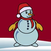 Snowman (Printable Card for Kids)