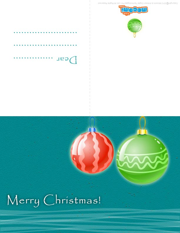 Christmas Decoration (Printable Card for Kids)