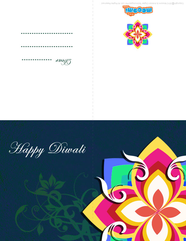 Diwali Rangoli Pattern (Printable Card for Kids)