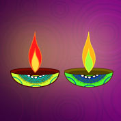 Diwali Lamps and Colours (Printable Card for Kids)