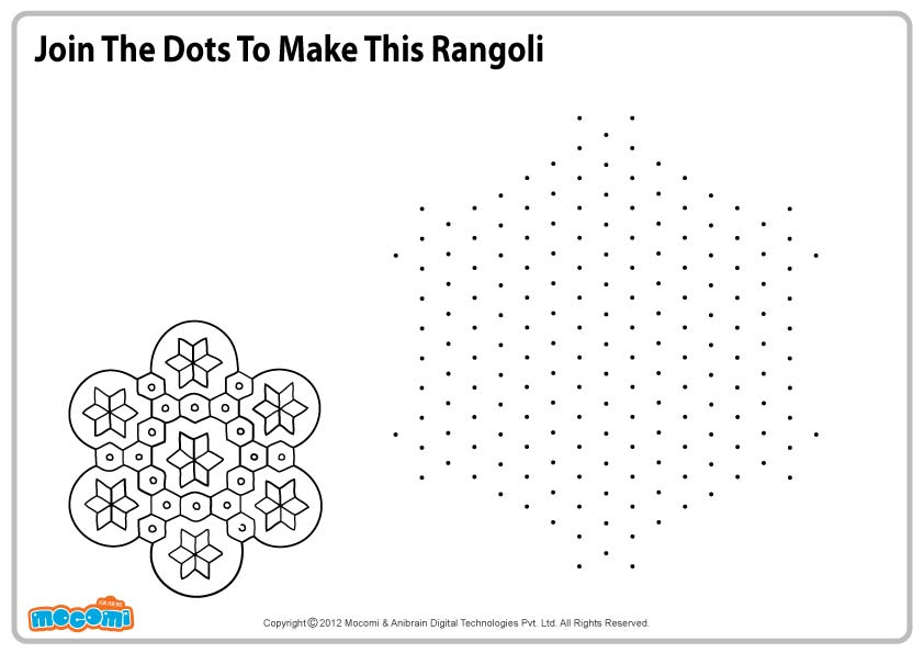 Rangoli Design 2 – Colouring Page