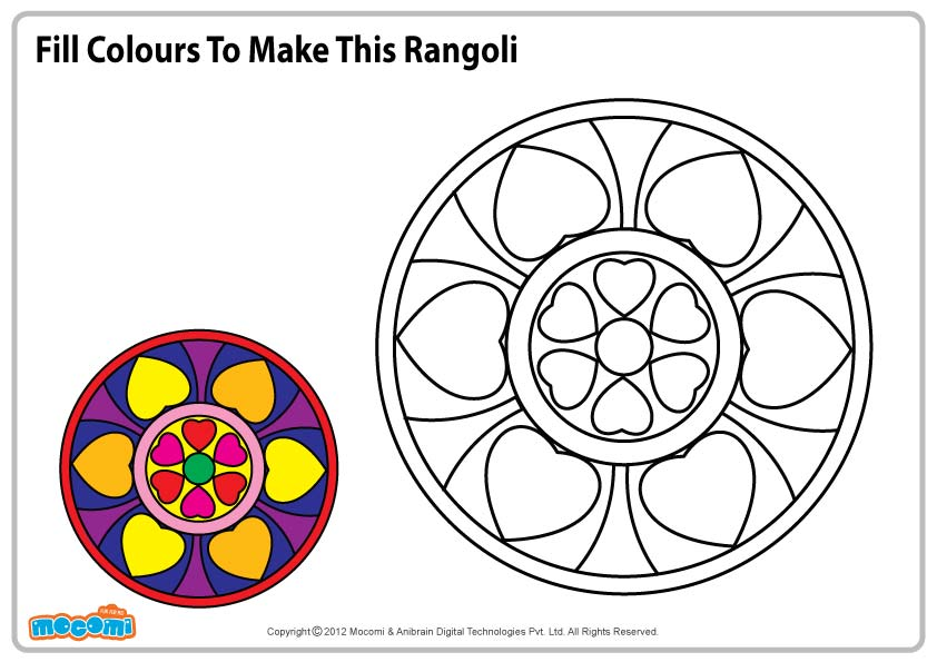 Related Pictures Rangoli Patterns Colouring Pages Picture