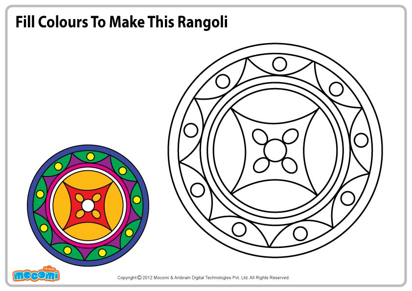 Pattern for Rangoli – Colouring Page