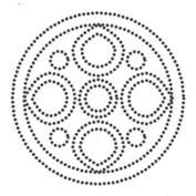 Diwali Stencil - Rangoli Pattern (Cut-out for Kids)